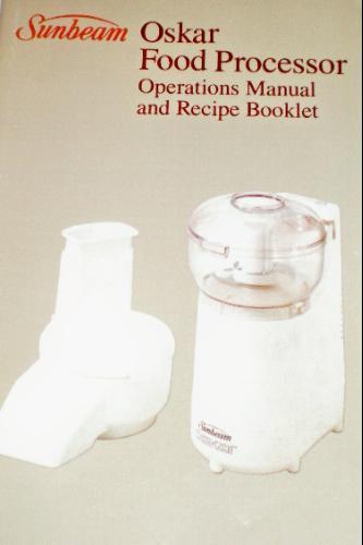sunbeam big oskar food processor manual