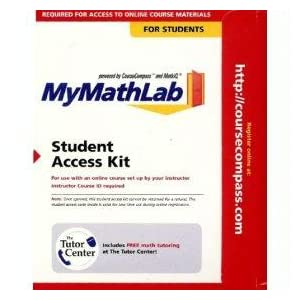 Click to see the FREE shipping offers and dollar off coupons we found with our saiholtiorgot.tk price comparison for MyMathLab Student Access Kit X, , X.