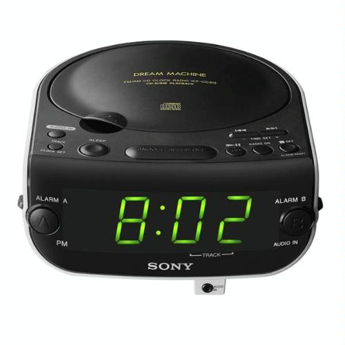 sony dual alarm clock radio cd player mp3 input w manual clean mint ebay. Black Bedroom Furniture Sets. Home Design Ideas