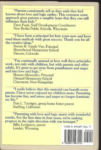 Teaching With Love And Logic. Customer Image Gallery for Parenting With Love and Logic : Teaching Children