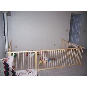 Baby Kids Wooden Playpen Room Divider 8 Panel