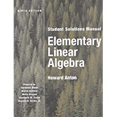 Book Cover: [request_ebook] Elementary Linear Algebra with Applications, Student Solutions Manual (9th Edition)