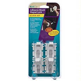 KidCo Adhesive Mount Magnet Lock 4 Lock Set