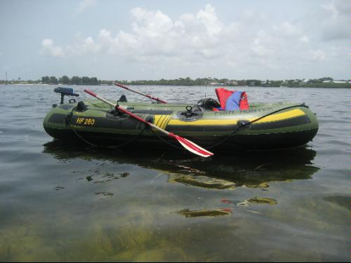 Sevylor fish hunter inflatable boat open for Fish hunter raft