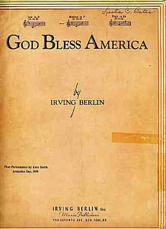 """a review of irving berlins god bless america Mark steyn on irving berlin's """"god bless america"""" posted by ruth king on september 8th, 2014    the following essay is adapted from mark's book a song for the season."""