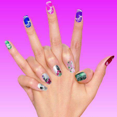 Set per decorazione unghie nail art con timbro for Decorazione e applicazione unghie finte