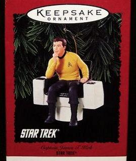 James T. Kirk Seated in Captain's Chair Christmas Ornament - Star Trek ...