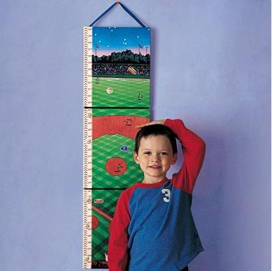 Eeboo Baseball Growth Chart