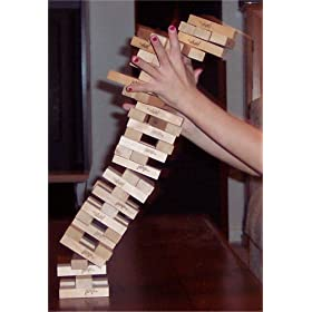 The Jenga stacking game is more fun if you play it as a stripping game or drinking game!