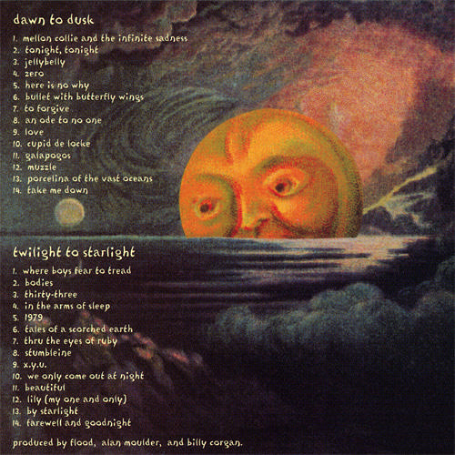 Alternate back cover for Mellon Collie and the Infinite SadnessMellon Collie And The Infinite Sadness Back
