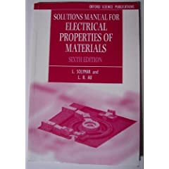 Solutions Manual for Electical Properties of Materials
