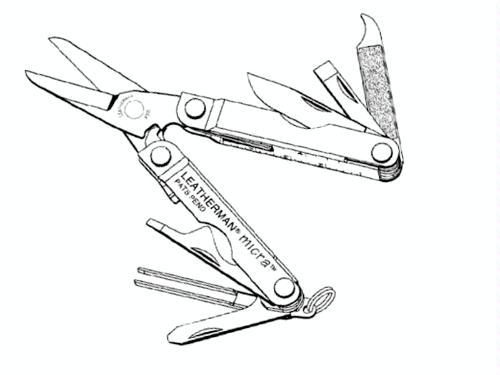Leatherman 64010103K Micra Multitool - Leatherman Knife