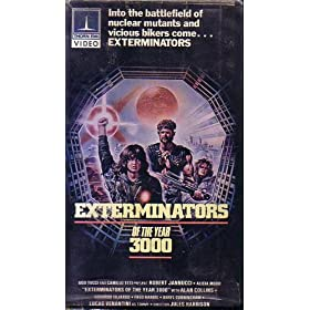Exterminators in the Year 3000 (1985) Starring: Robert Iannucci, Alicia Moro Director: Giuliano Carnimeo