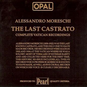 Moreschi - The Last Castrato(Pearl)のAmazonの商品頁を開く