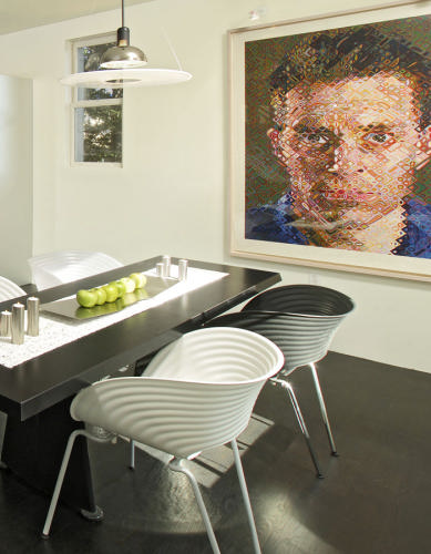 Great dining room, Chuck Close print