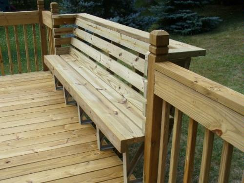 Deck Bench Brackets for Pinterest