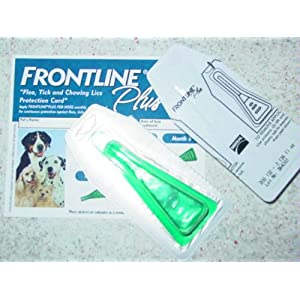 Merial Frontline Plus Flea and Tick Control for 0-to-22-Pound Dogs and Puppies, 3 Doses