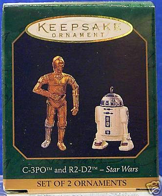 C-3PO & R2-D2 Star Wars Christmas Ornaments