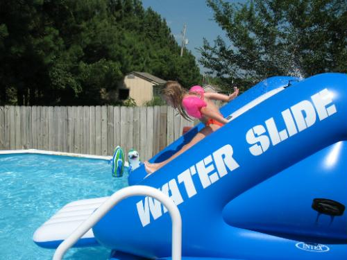 Find cheap intex waterslide baby bouncer reviews for Swimming pool water slide parts