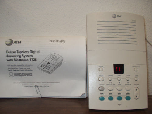 at&t 1726 answering machine manual