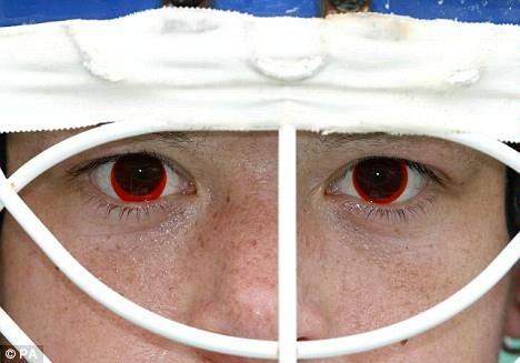Olympic Athletes Fight Beijing Smog with Special Red Contact Lenses 3