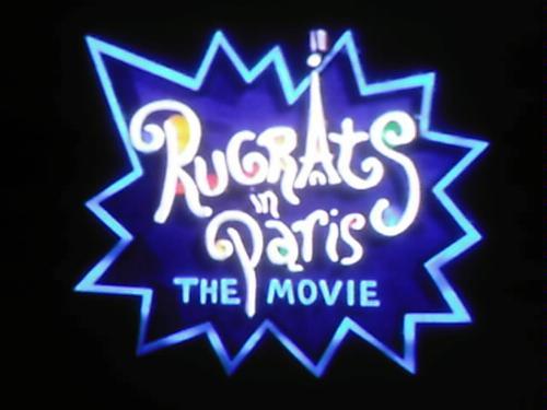 famous rugrats in paris the movie logo