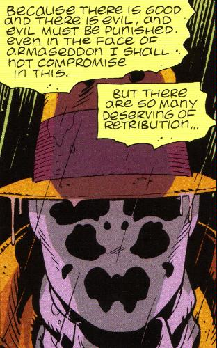 Rorschach illustration in 'Watchmen'