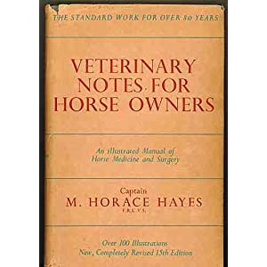 Veterinary Notes for Horse Owners; an illustrated manual of horse medicine and surgery [Hardcover]
