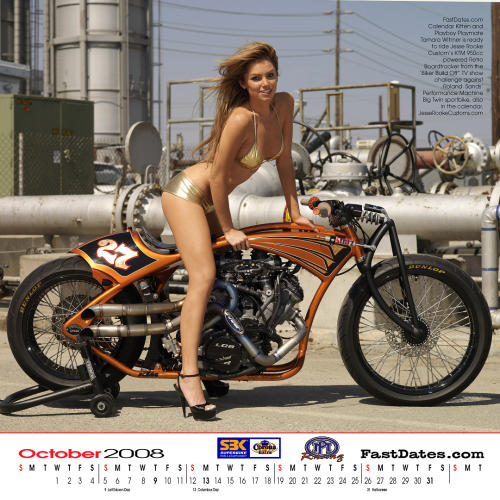 2008 World Superbike Motorcycle Swimsuit Model Calendar