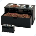 Pet product food storage, bowls, and feeding supplies