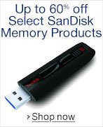 Up to 60% Off Select SanDisk Memory Products