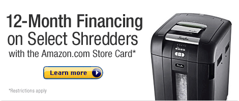 12-Month Financing on Select Shredders with the Amazon.com Store Card