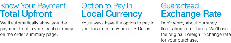 Convert Your Order Total To Your Local Currency