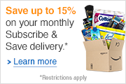 Save up to 15% on your monthly Subscribe & Save Delivery