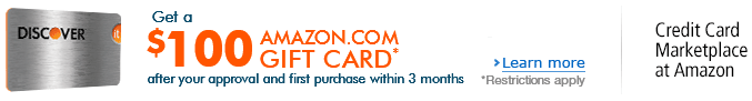 Get a $100 Amazon.com Gift Card after your approval and first purchase