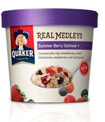 Quaker Real Medleys Summer Berry Oatmeal+