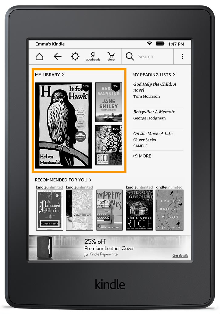 how to examine amazon kindle books online