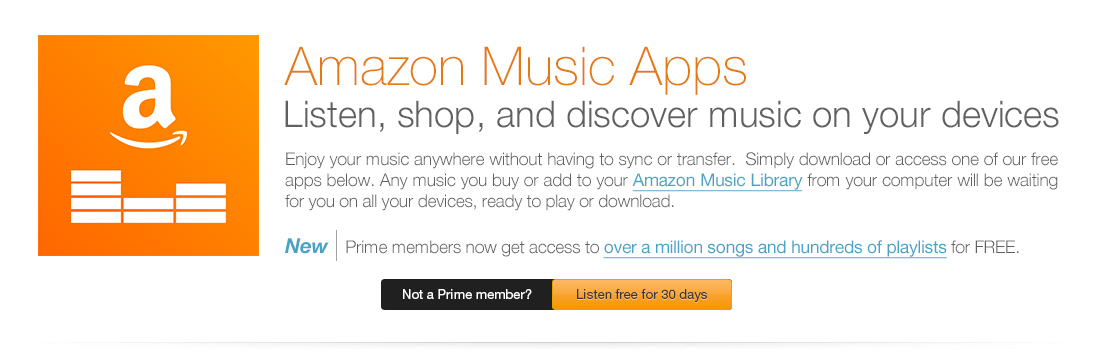 Enjoy your music everywhere with Amazon Music Apps.
