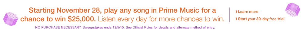 Prime Music Sweepstakes