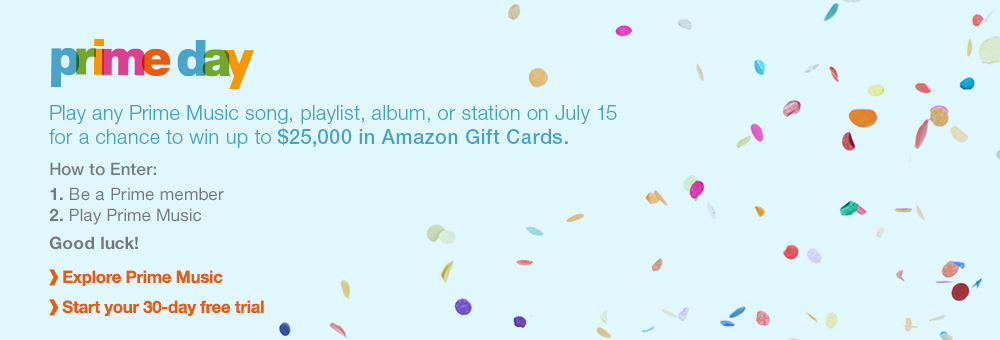 Listen to Amazon Prime Music on July 15, 2015