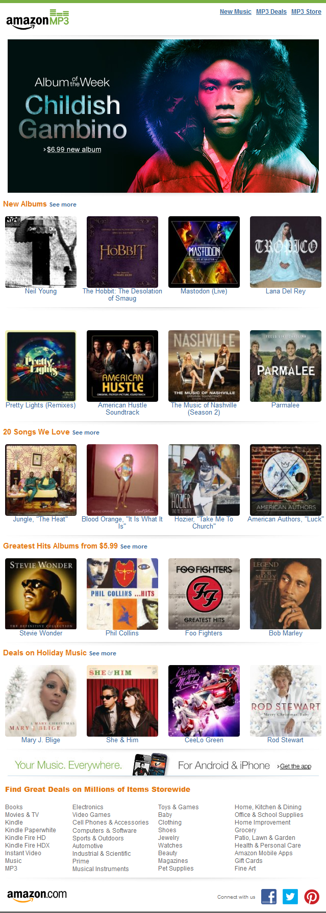 Amazon MP3 Download Preview