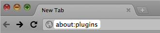 Chrome plugins area