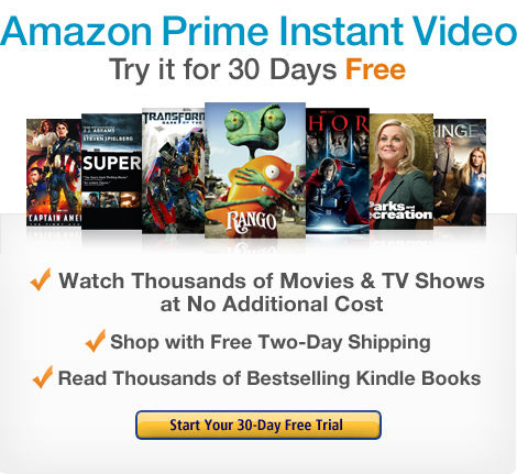 Amazon Prime includes unlimited, instant streaming of thousands of movies and TV shows