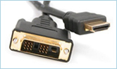 Picture of an HDMI-to-DVI cable