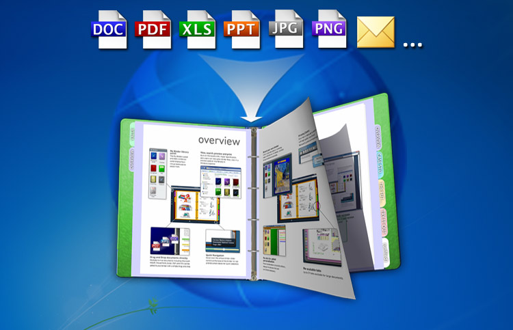 Many file formats can be collated within a binder