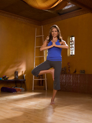 Stills from desi bartlett yoga for beginners