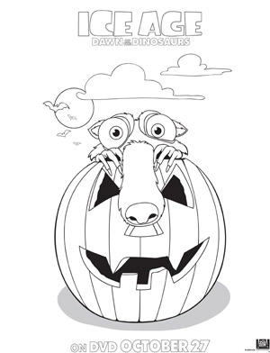 ice age coloring page scratt amp pumpkin - Ice Age Characters Coloring Pages