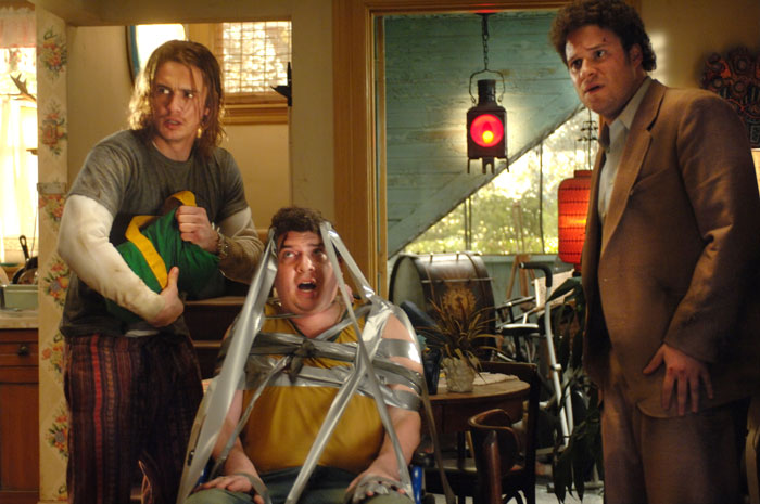 Stills from Pineapple Express (click for larger image)