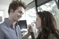 Bella Swan (Kristen Stewart) doesn't expect much when she moves to the small town of Forks, Washington, until she meets the mysterious and handsome Edward Cullen (Robert Pattinson)—a boy who's hiding a dark secret: he's a vampire. As their worlds and hearts collide, Edward must battle the bloodlust raging inside him as well as a coterie of undead that would make Bella their prey. Based on the #1 New York Times best-selling sensation by Stephenie Meyer, Twilight adds a dangerous twist to the classic story of star-crossed lovers.