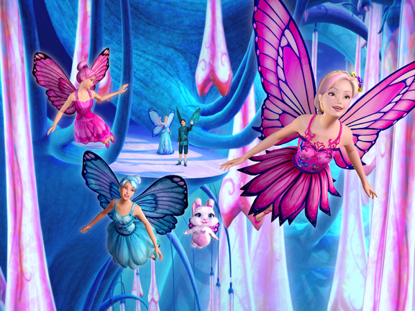 Stills from Barbie Mariposa (click for larger image)